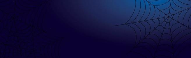 Fondo de halloween azul oscuro sombrío aterrador - vector