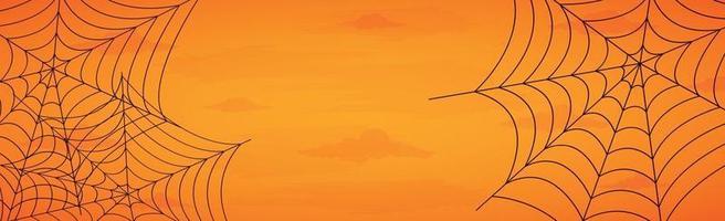 Fondo de halloween naranja sombrío aterrador - vector