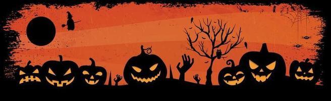Fondo de halloween rojo sombrío aterrador vector