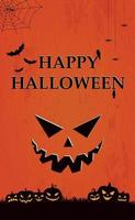 Scary gloomy red halloween background vector