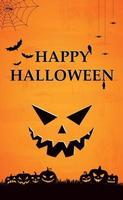 Scary gloomy orange halloween background - Vector