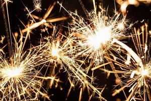 close up fireworks light new year night. High quality and resolution beautiful photo concept