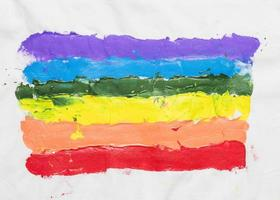 lgbt flag drawn by hand . High quality and resolution beautiful photo concept