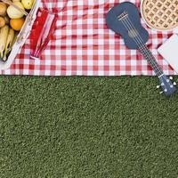 composición de picnic con copyspace. concepto de fotografía hermosa de alta calidad y resolución foto