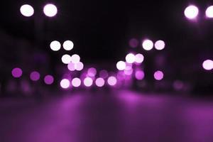 calle luz rosa bokeh. concepto de fotografía hermosa de alta calidad y resolución foto