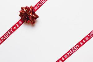 Fondo de lazo brillante de cintas rojas. concepto de fotografía hermosa de alta calidad y resolución foto