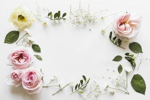vista superior hojas de flores. concepto de fotografía hermosa de alta calidad y resolución foto