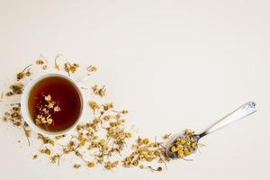 top view refreshing tea herbs. High quality and resolution beautiful photo concept