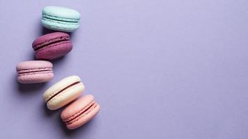top view delicious macarons with copy space. High quality and resolution beautiful photo concept