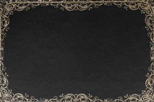 ornate border design against black background card . High quality and resolution beautiful photo concept