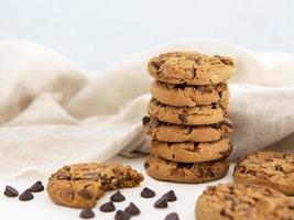pila de galletas galleta mordida. concepto de fotografía hermosa de alta calidad y resolución foto