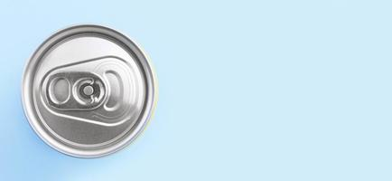 top view soft drink can with copy space. High quality and resolution beautiful photo concept