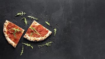 Ver marco de comida italiana. concepto de fotografía hermosa de alta calidad y resolución foto