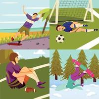 Sport Injuries Design Concept Vector Illustration
