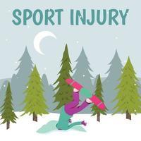 Winter Sports Damage Background Vector Illustration