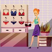 Modesty Clothing Store Background Vector Illustration