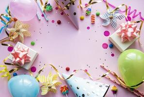 Happy birthday or party background photo