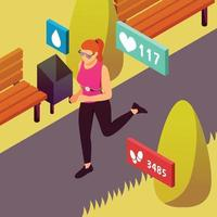Wearable Sport Devices Isometric Vector Illustration