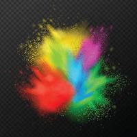Paint Explosion Realistic Composition Vector Illustration