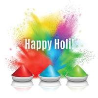 Happy Holi Holiday Background Vector Illustration