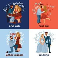Developing Love Relations Concept Vector Illustration
