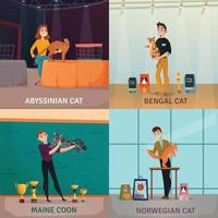 Cat Show Concept Vector Illustration