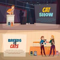 Cat Show Banners Vector Illustration