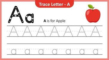 Trace Letter A vector