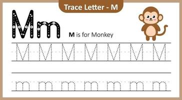 Trace Letter M vector