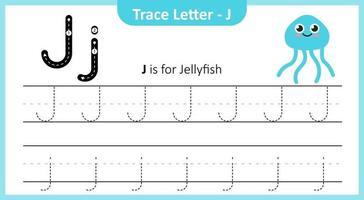 traza la letra j vector