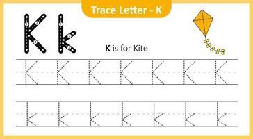 Trace Letter K vector