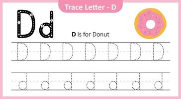 Trace Letter D vector