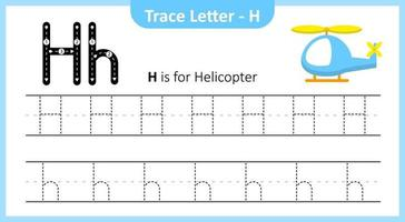 Trace Letter H vector