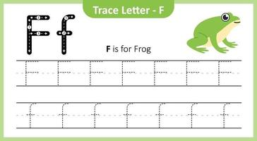 Trace Letter F vector