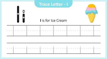 Trace Letter I vector