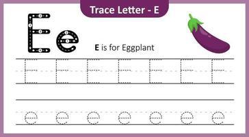 Trace Letter E vector