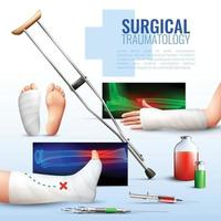 Surgical Traumatology Concept Vector Illustration