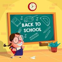 Back to School Children Illustration Background vector