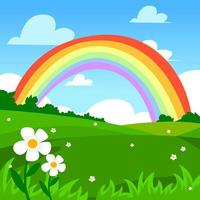 Colorful Rainbow illustration Background vector