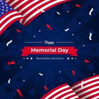 USA Festival Memorial Day Commemoration Background vector