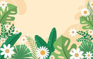 Colorful Foliages Flat Background Design vector