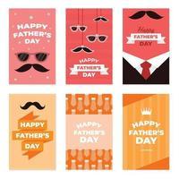 Father's Day Festivity Card Set vector