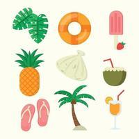 Summer Icon Set Flat Design vector