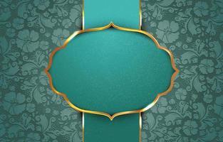 vintage de color verde con folwers abstracto vector
