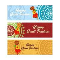 Happy Gudi Padwa Hindu Indian Festival vector