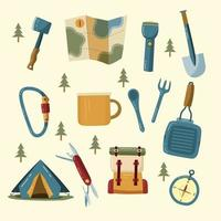 Camping Icon Set Collection vector
