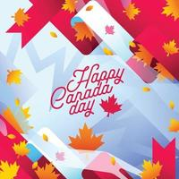 Canada day background illustrations vector