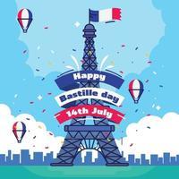 Bastille day flat illustrations vector