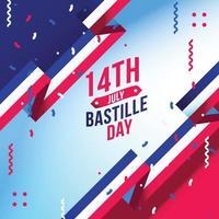 Bastillle day flat background illustrations vector