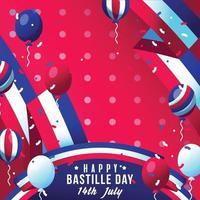 Bastile Day Background illustratiions vector